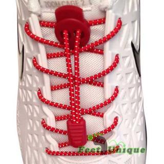Reflektierende, rote Schnürsenkel mit Verschluss
