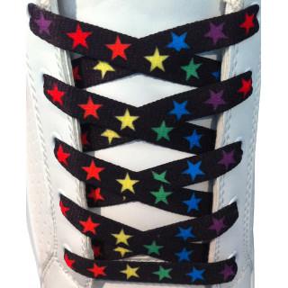 Schnürsenkel mit bunten Sternen