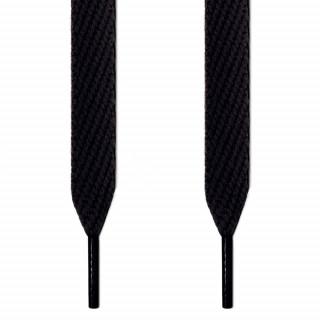 Extrabreite schwarze Schnürsenkel