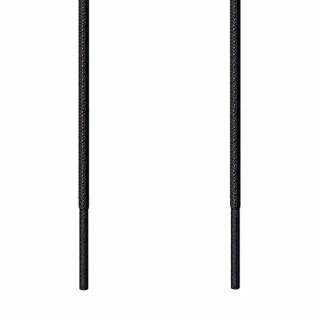 Runde, schwarze Ausgehschnürsenkel