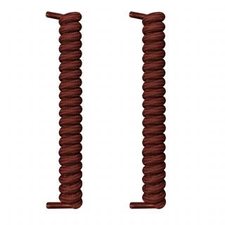 Dunkelbraune spiralförmige Schnürsenkel