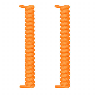 Geringelte elastische Schnürsenkel in Orange