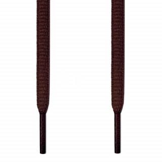 Ovale, dunkelbraune Schnürsenkel