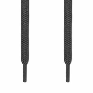 Elastische, flache, dunkelgraue Schnürsenkel (No-Tie)