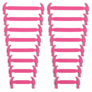 Pinke elastische Silikon-Schnürsenkel