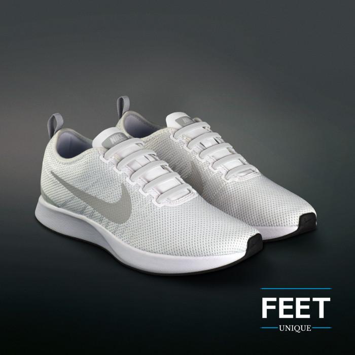 Weiße elastische Silikon-Schnürsenkel