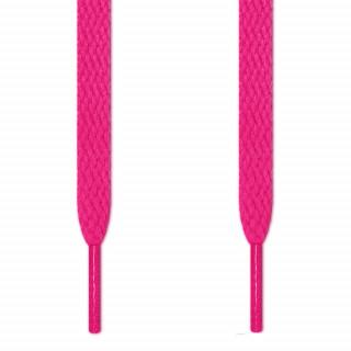 Flache Schnürsenkel in Pink