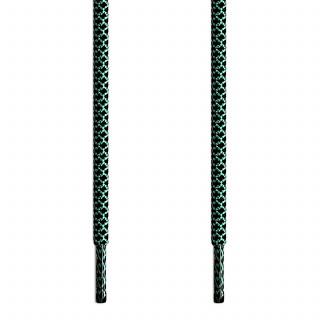 Runde Schnürsenkel, schwarz und grün