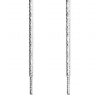 Runde Schnürsenkel, grau und weiss