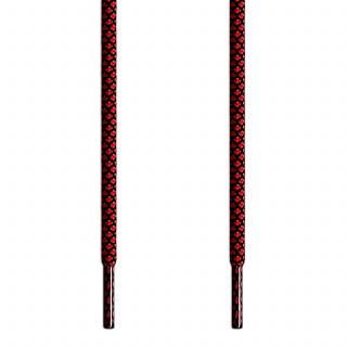 Runde Schnürsenkel, schwarz und rot
