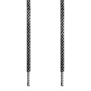 Adidas Yeezy -  Schnürsenkel, schwarz und silber