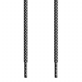 Runde Schnürsenkel, schwarz-weiss
