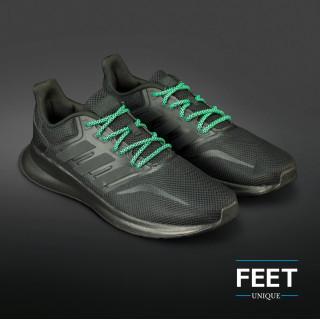 Adidas Yeezy - Schnürsenkel, schwarz und grün