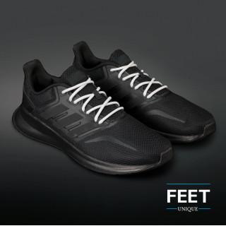 Adidas Yeezy - Schnürsenkel, grau und weiss